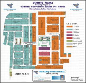 Olympian Cooperative Housing Society Map