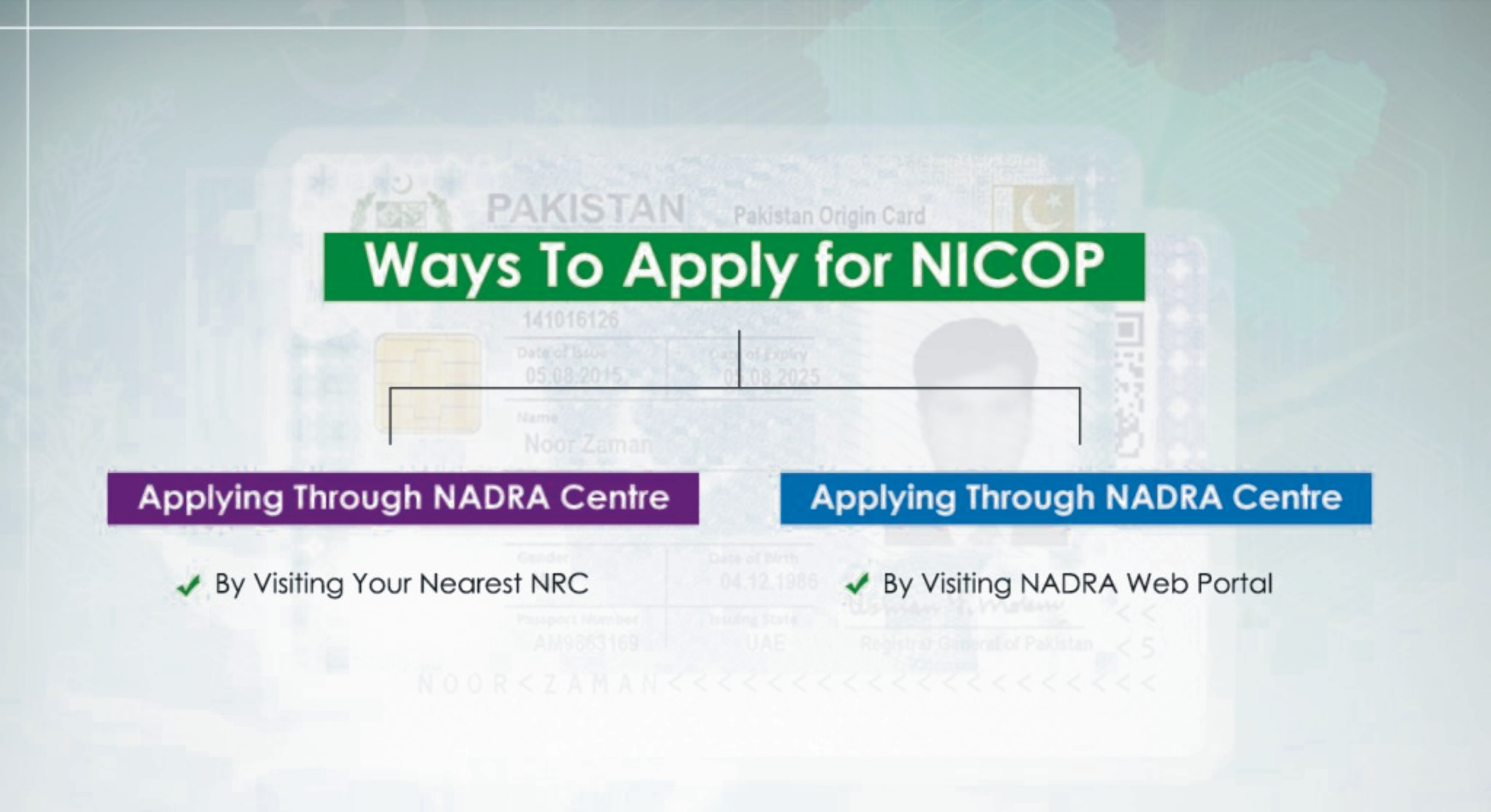 HOW TO APPLY FOR NICOP?