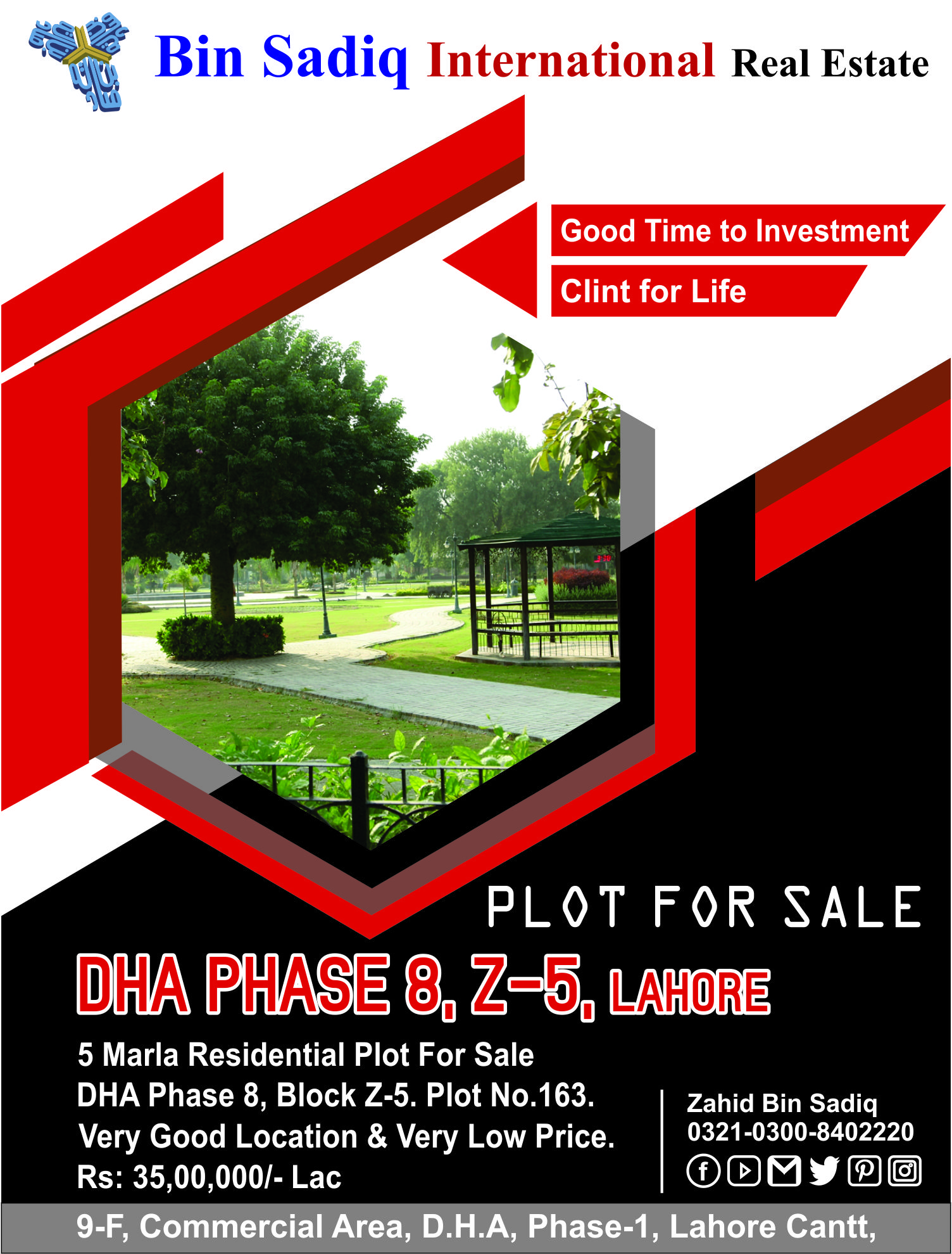 DHA Phase 8 Z5 Plot For Sale Very Good Location & Very Hot Price