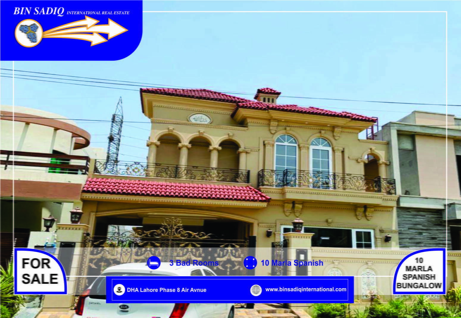 DHA Lahore Phase-8, Air Avenue Facing Park 10 Marla Brand New Spanish Bungalow For Sale